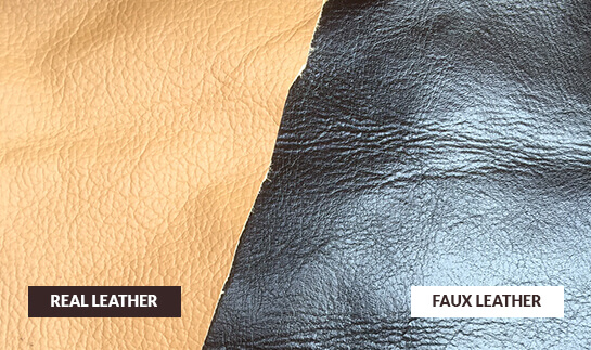 real leather or faux leather and how to tell them apart